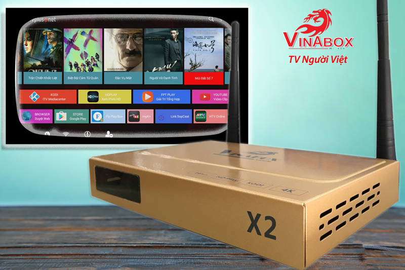 VINABOX X2 - RAM 1G, ANDROID
